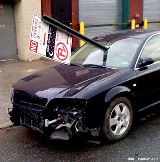 عکس های خنده دار از انتقام گرفتن به وسیله ماشین