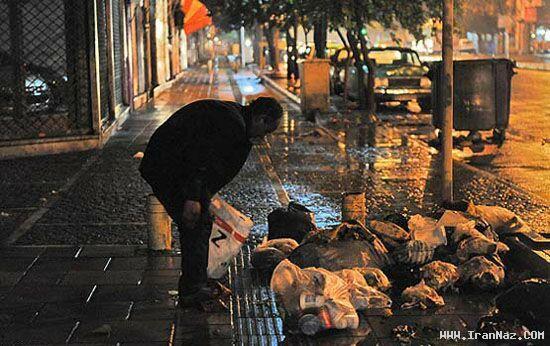 عکسهای زشتی های تهران در یک شب زیبای بارانی