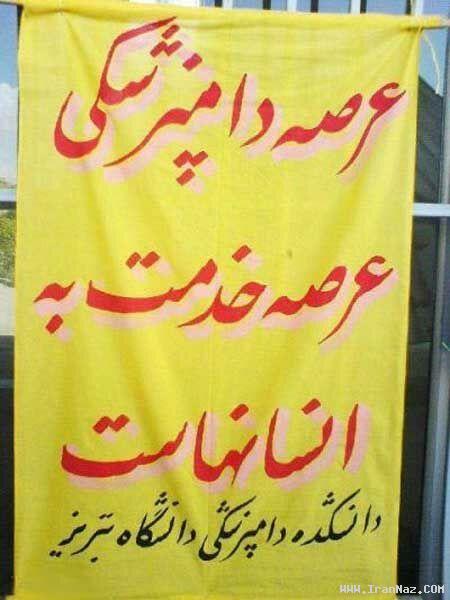 شعار دامپزشکی در تبریز+خنده دار