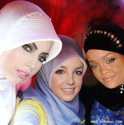 وقتی که ریحانا، بریتنی و لیدی گاگا با حجاب میشوند!