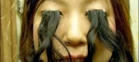 عکسی دیدنی از دختری با مژه های 20 سانتی