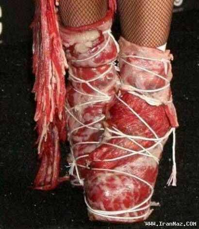 عکس های جنجالی لباس گوشتی و عجیب لیدی گاگا