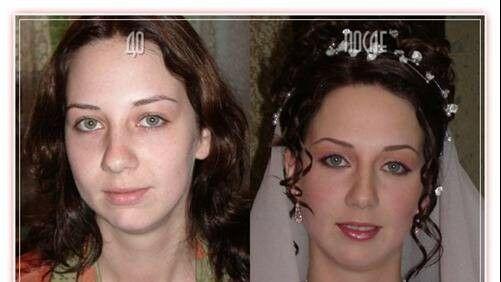 عكس هایی از عروس های روسی قبل و بعد از آرایش