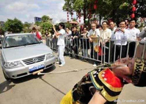 کشیدن ماشین سواری فقط با پلک چشم!!! +عکس ، www.irannaz.com