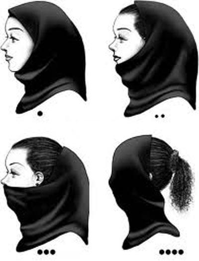 سیر تکامل مقنعه دختران ایرانی (تصویری)