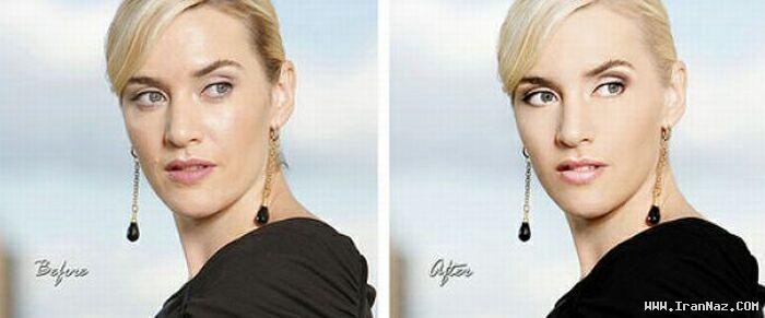 عکس های زنان معروف هالیوود قبل و بعد از فتوشاپ