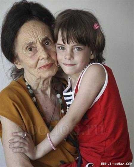 عکس های پیر ترین مادر جهان به همراه دختر زیبایش