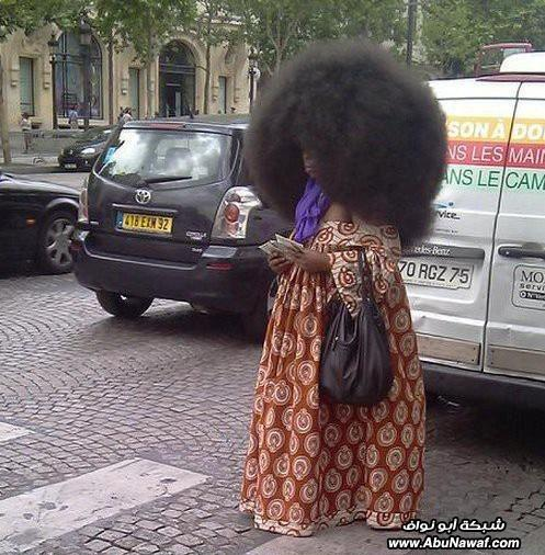 مدل موی بسیار عجیب زنی سیاه پوست (تصویری)