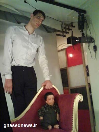 ملاقات دیدنی کوتاه ترین و بلندقد ترین مرد ایرانی