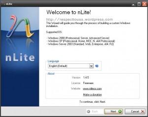 ساخت ویندوز سفارشی با نرم افزار nLite v1.4.9