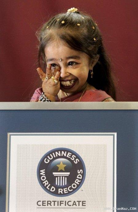 عکس هایی بسیار زیبا و با نمک از کوتاه ترین زن جهان