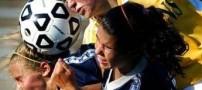 عکسی دیدنی و خنده دار از فوتبال زنان