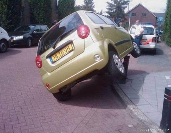عکس های عجیب و خنده دار ترین تصادف های جهان ، www.irannaz.com