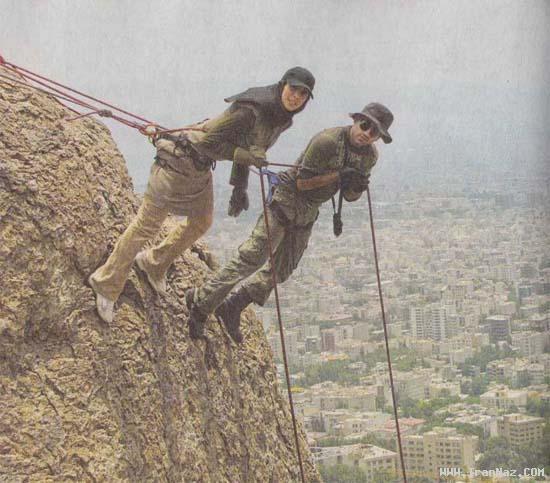 عکس هایی از تمرینات دختران بدلکار در شمال تهران