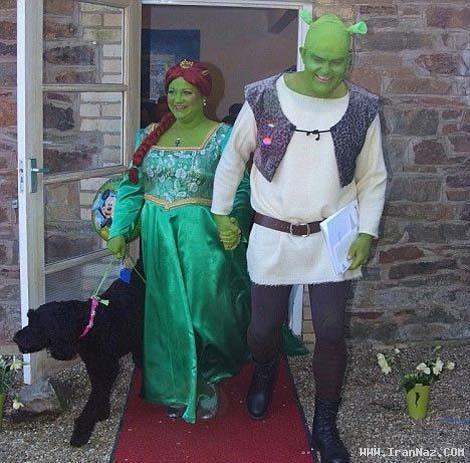 عکس هایی بسیار دیدنی از ازدواجی به سبک شرک!