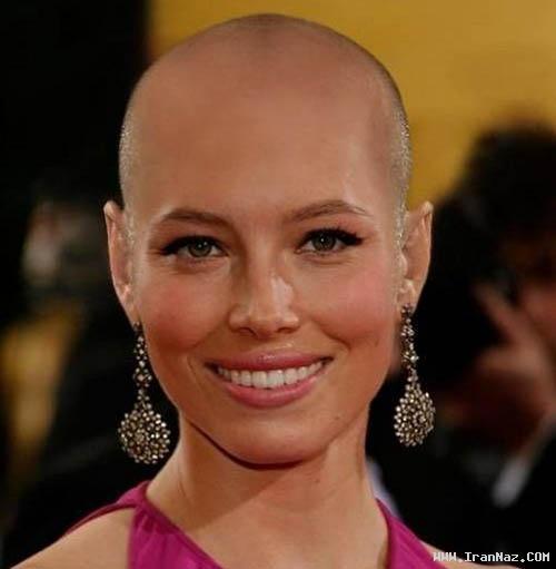 عکس های معروف ترین بازیگران زن با موهای تراشیده