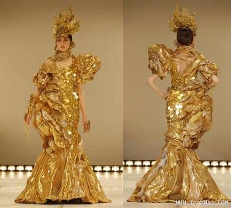 مشهورترین دختر بازیگر ژاپن در گرانترین لباس +عکس