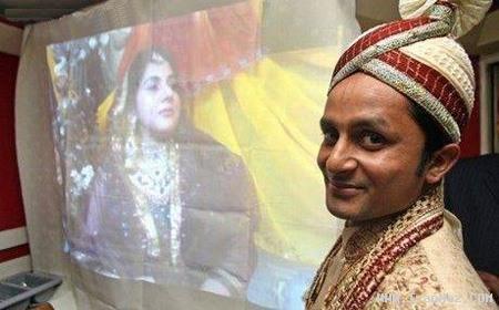 ازدواج پس از فقط 10 دقیقه آشنایی در اینترنت+عکس