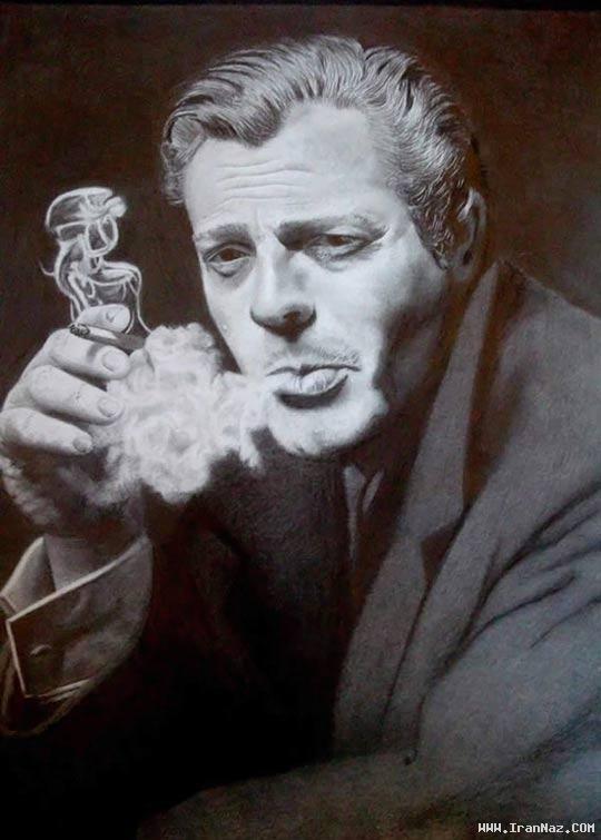 نقاشی های باور نکردنی از چهره بازیگران بزرگ با مداد