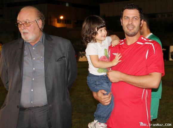 عکس های پژمان بازغی در کنار دختر ، پدر و برادرش