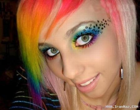 عکسهای بسیار دیدنی از دختر رنگی تر از رنگین کمان