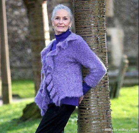 پیر زنی با 82 سال سن، پیرترین مانکن جهان +عکس