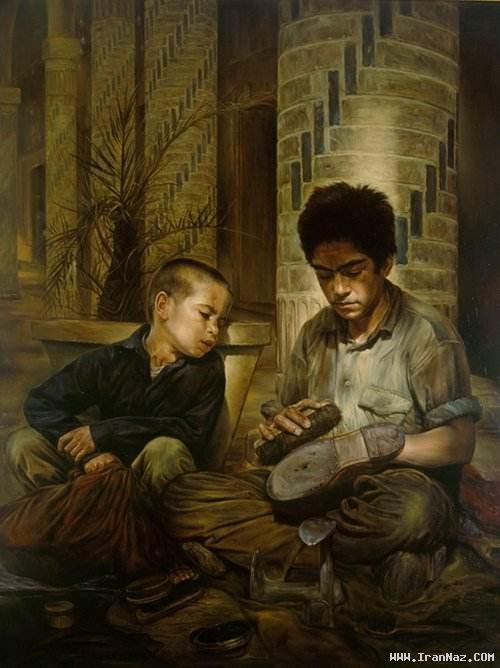 تصاویری از نقاشی هایی بسیار زیبا اثر استاد کاتوزیان