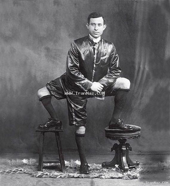 عکس های بسیار جالب و باور نکردنی مردی با سه پا