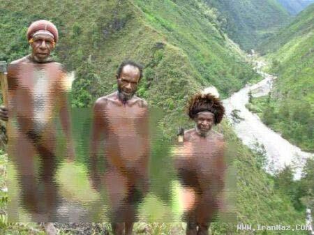 قبیله ای عجیب با زنان و مردانی بدون لباس!! +عکس