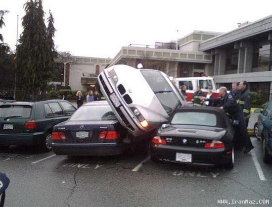 وقتی یک خانم ماشین خود را پارک می کند (تصویری) ، www.irannaz.com