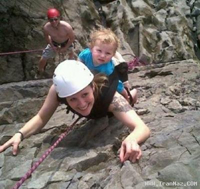 خانمی عجیب که لذت را در خطر كردن میداند! +عکس