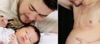 مرد حامله انگلیسی فرزند خود را به دنیا آورد!! +عکس