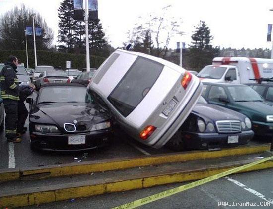 وقتی یک خانم ماشین خود را پارک می کند (تصویری)