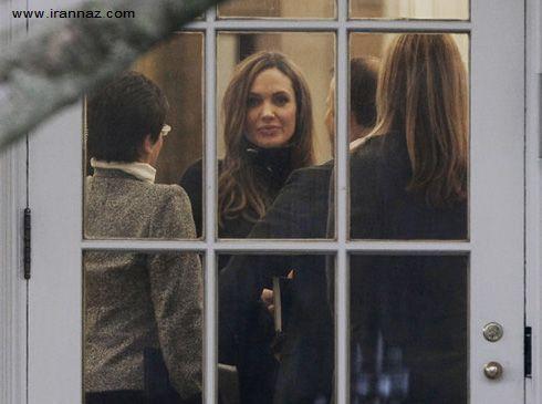 دیدار پرزیدنت اوباما با براد پیت و آنجلینا جولی! +عکس