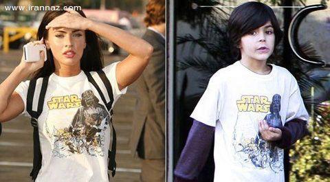 بازیگر مشهور زن لباسهای پسر 8 سالهاش را میپوشد