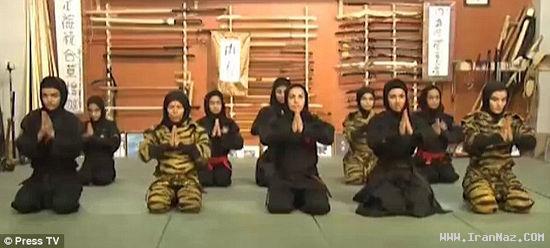 عکس های بسیار دیدنی دیدار با نینجا های زن ایرانی