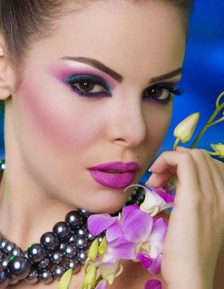 عکس های زیبا از آرایش رنگین کمان خانم ها
