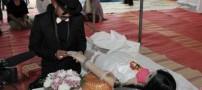 ازدواج عجیب مردی با معشوقه مرده اش!! +عکس