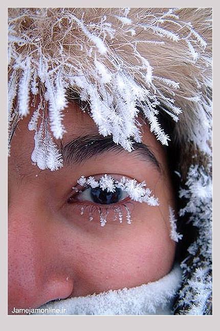چهره زیبای یخ زده زن سوئدی !+ عکس