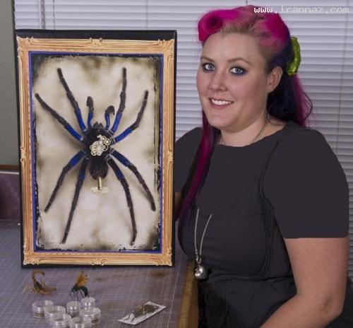 عکس های جالب از هنرمندی بسیار شجاعانه یك خانم