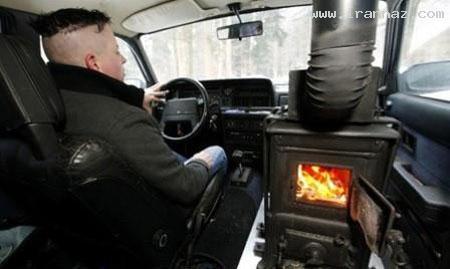 ابتكار خنده دار یک سوئیسی در سوز زمستان +تصاویر