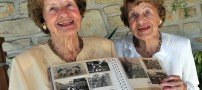 عکسی زیبا از پیرترین دوقلوی زن جهان
