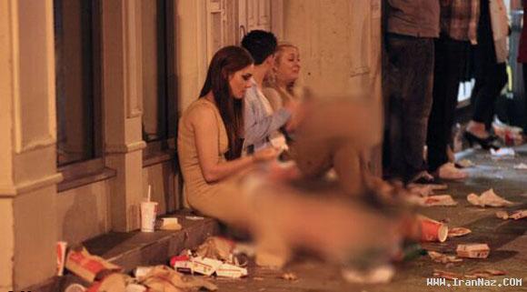 عکس های فاجعه اخلاقی دختران و پسران انگلیسی