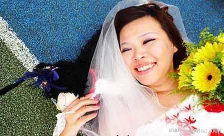 ازدواج عجیب یک دختر بخاطر کمبود خواستگار! +عکس