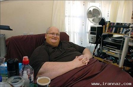 مردی با 380 کیلو وزن چاق ترین انسان جهان! +عکس