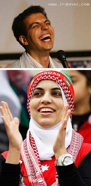 شباهت جالب زن اردنی به عادل فردوسی پور +عكس