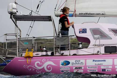 دختری تنها که دور دنیا را با قایقش طی کرد!! + تصاویر