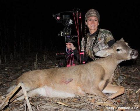 عکس هایی از بزرگ ترین شکارچی زن و قاتل حیوانات ، www.irannaz.com