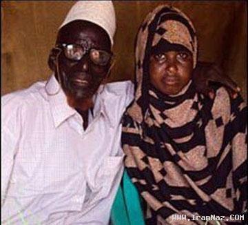 ازدواج پیرمرد 112 ساله با یک دختر 17 ساله! +عکس