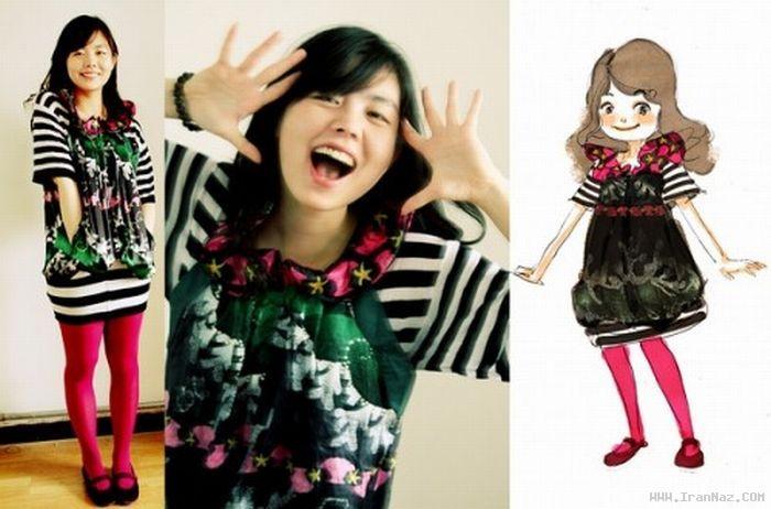 دختری که خود را شبیه شخصیت های کارتونی میکند!